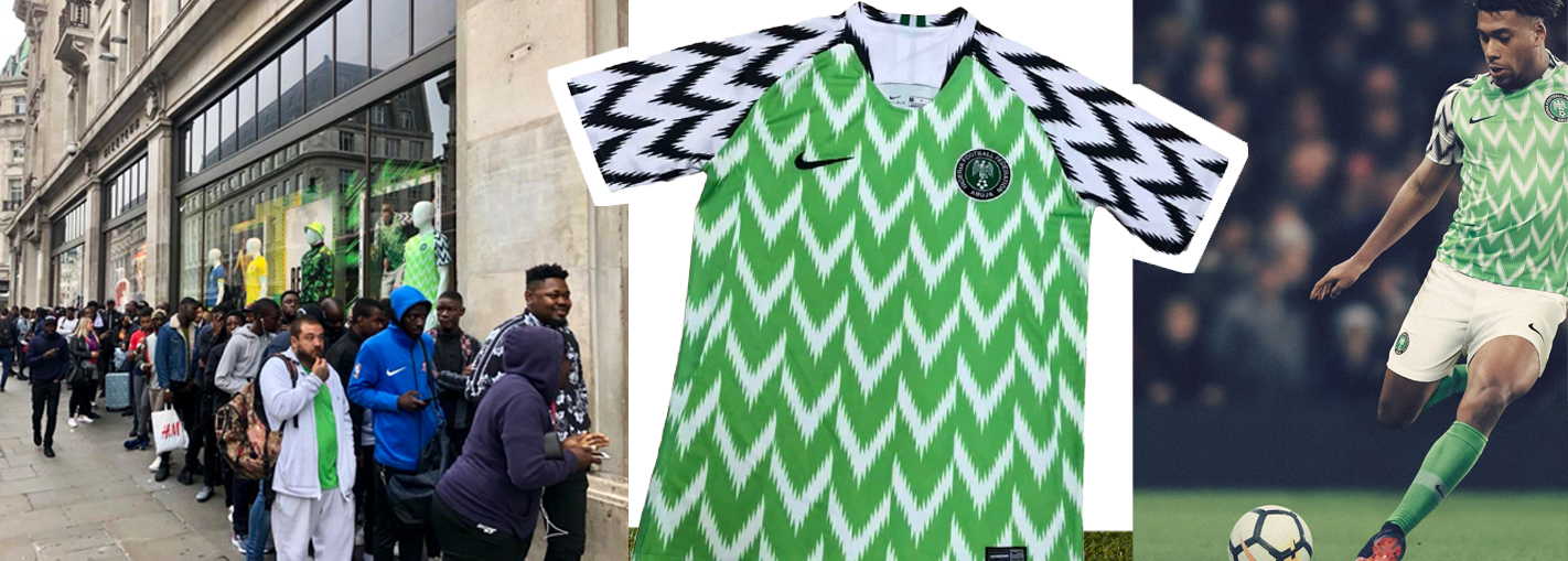 9bc0e4062 Nigeria World Cup 2018 kit  Home Nike shirt sold out in minutes as fans  queue around the block