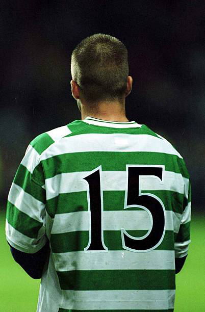 ce4e42627da Below you can also see David Beckham wearing the Celtic number 15 match  worn shirt by the player whom he swapped the shirt with.